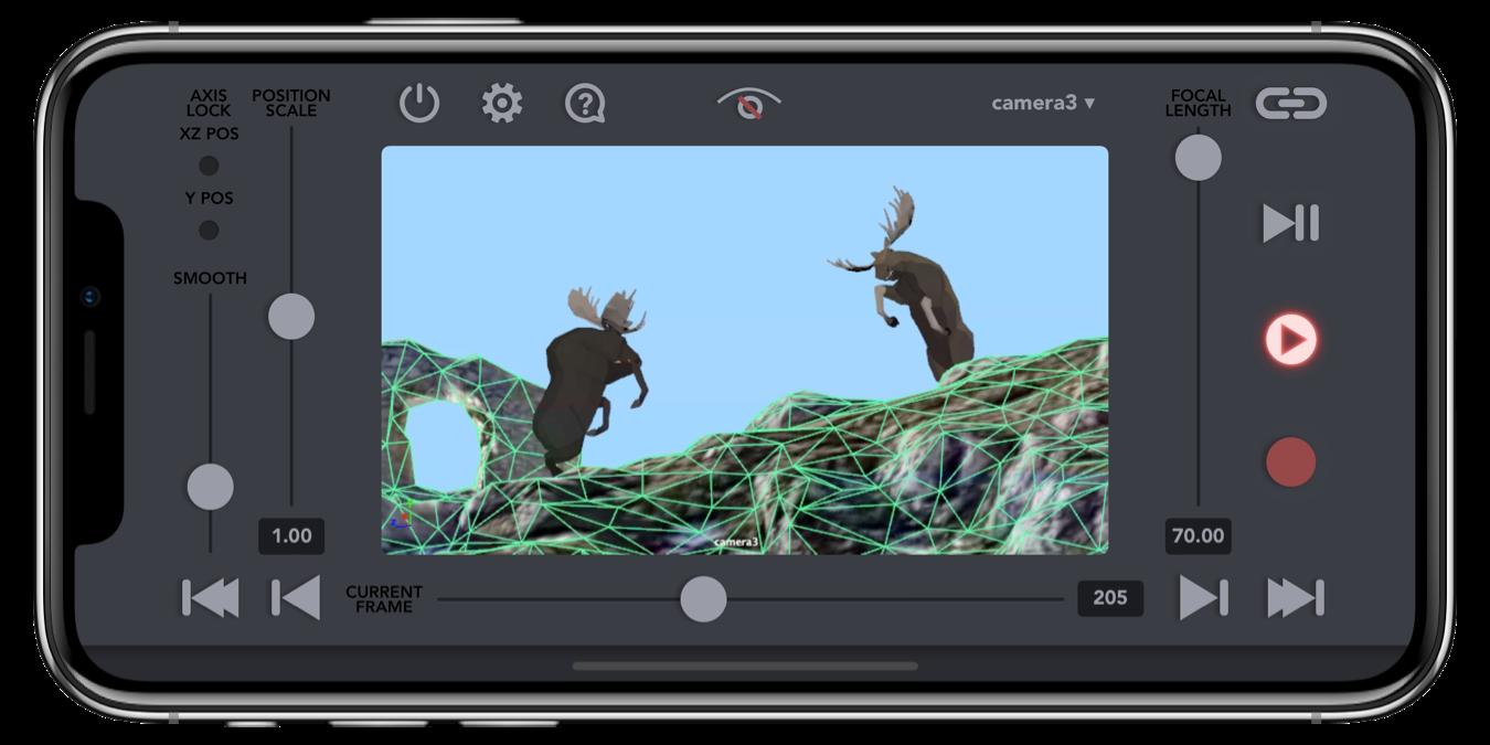 VirtuCamera – Live camera motion capture app for 3D Artists